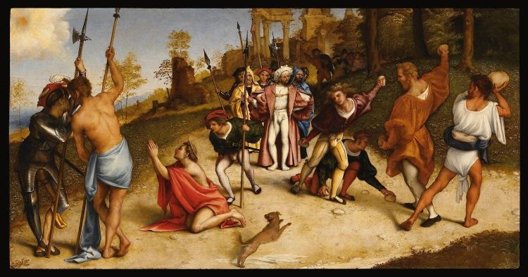 Stoning of Saint Stephen by Lorenzo Lotto