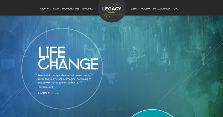 church website sample